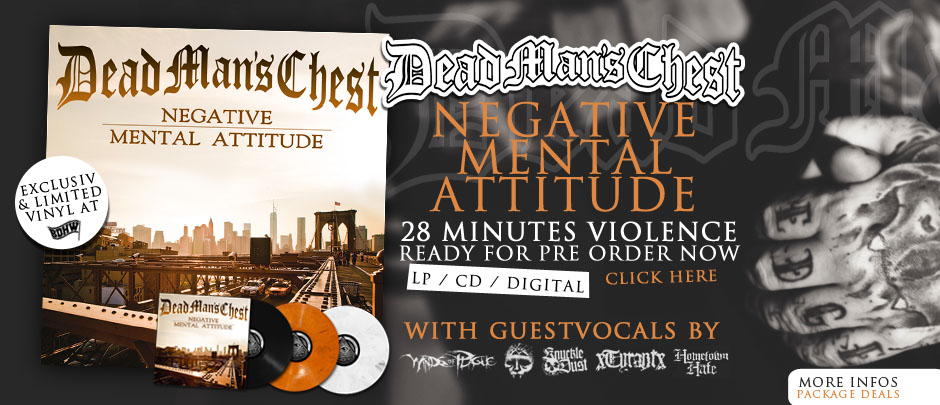 Dead Mans Chest Negative mental attitude pre order vinyl or cd