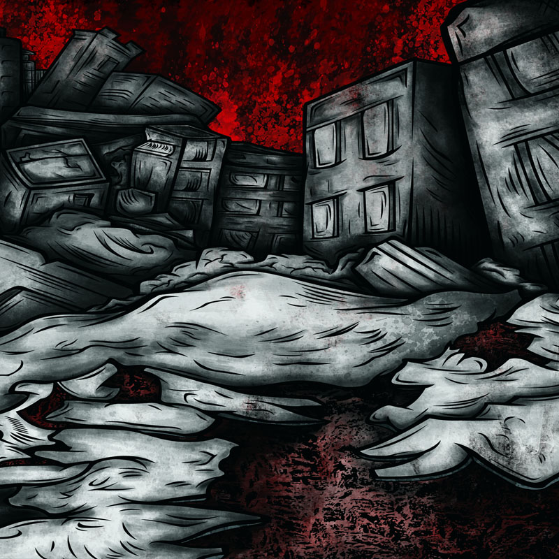 World Of Pain - Xibalba - Ruckus - Earthquake Split CD-Cover